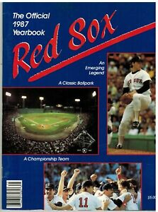 1987 BOSTON RED SOX OFFICIAL YEARBOOK Roger Clemens Classic Ballpark Champ Team