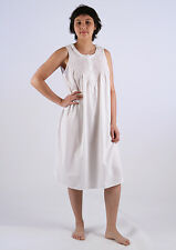 Jessie Ladies Cotton Sleeveless Nightgown/Sleepwear/Nightie with Pink Smocking