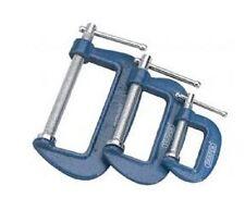 Draper 1 x 3 Piece C Cramp Set Garage Professional Standard Tool 36779