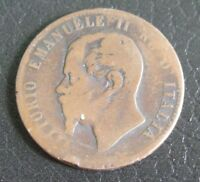 10 Centesimi Regno d'Italia V. Emanuele II 1863 - BB -  nr 775