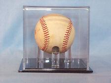 Single Acrylic Baseball display case. Black base w/ clear tees to hold baseball