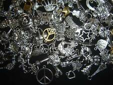 LoT Of 125 PiEcEs ~ MiXeD SiLvER GoLd ChArMs PeNdAnTs MiX PiCk YoUR THeMeS