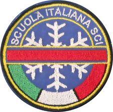 PATCH TOPPA  STEMMA SCUOLA ITALIANA SCI diametro cm 7 TERMOADESIVA RICAMATA