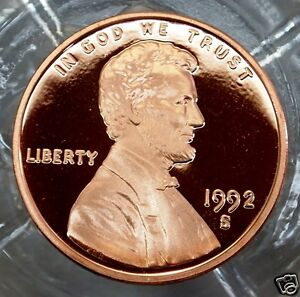 1992-S  Cameo Proof  Lincoln Memorial Cent....#4765