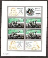 ROMANIA # C185 Imperforate MNH APOLLO 15 MOON MISSION