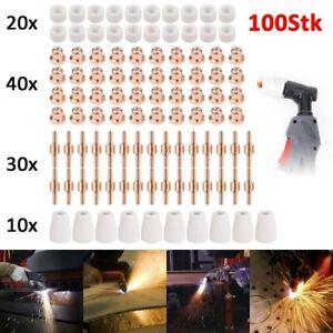 100x Plasmaschneider Elektroden Düsen Zubehör Set Für LG-40 PT-31 CUT40 CUT50