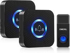 Wireless Doorbell, OMERIL 1000ft Range Door Bells, IP55 Waterproof 58 Chimes