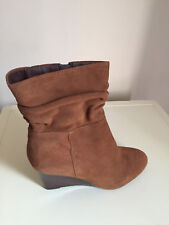 NEXT Womens Suede Leather Slouch Ankle Boots Size 8 Brand New