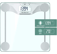 NUTRI FIT Digital Body Weight Bathroom Scale BMI, Accurate Weight Measurements