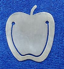 """Tiffany&Co. Sterling .925 bookmark """"Large Apple"""" 2.00"""" X 1.75"""""""