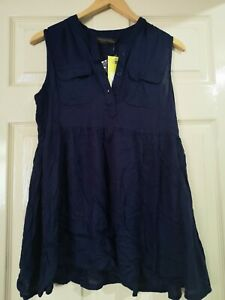 Mothercare Maternity Navy Smock Shirt Top Size 12 NWT