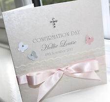 Personalised Handmade confirmation Christen Fille Carte-Charlotte Elisabeth C004