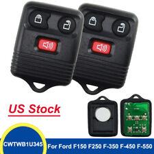 2 Keyless Entry Remote Control Car Key Fob Transmitter Alarm For Ford F-150 F250