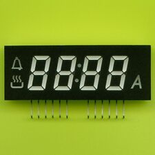 3× GREEN LED CLOCK DISPLAY 7 SEGMENT 4×12mm DIGITS + 4 INDICATORS CC 51×19×10mm†