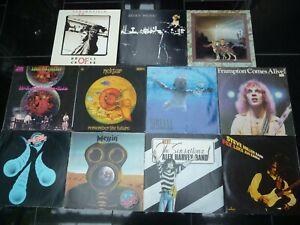 12 LPs Rock Heavy Hardrock Kraut Nektar Peter Frampton Alex Harvey Nirvana MMEB