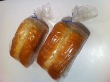 """300 Pcs Cover Bread Loaf Clear Bags Plastic Storage and Twist Ties FDA 6""""x15""""x3"""""""