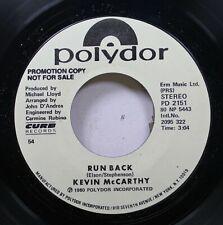 Hear! Modern Soul Disco Promo 45 Kevin Mccarthy - Run Back / Same On Polydor (Pr