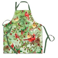 Michel Design Works Cotton Apron Christmas Pine Cardinals - NEW