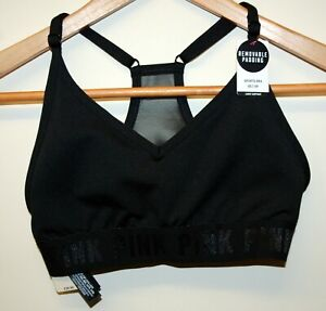 Victoria's Secret PINK Sports Bra Size XS Black RRP £25.99