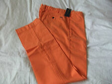 POLO Ralph Lauren Da Uomo Hudson Pantalone/Chino > 31X32 < 5 Tasche Chiusura Zip Slim Fit Arancione