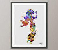 Jasmine Disney inspired Princess Watercolor Print Archival Fine Art Print Decor