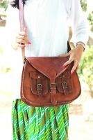 "13"" Bag Leather Shoulder Handbag Ladies Tote Messenger Satchel Designer Women"