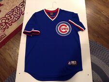 VTG Chicago Cubs Majestic Cooperstown Collection Pullover Jersey SZ L - Cool