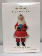 2010 Hallmark Ornament Santa'S Busy Season Mint In Box~New