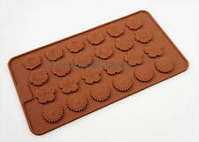 Flower Floral Chocolate Candy Silicone Cake Cupcake Decorating Mould Pan Button