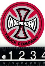 INDEPENDENT TRUCK CO. STICKER Indy 4 in Red Vintage Skateboard Decal