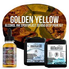 Epoxidharz EpoxyPlast 3D B50 GOLDEN YELLOW Transparent Farbig Gießharz Epoxy