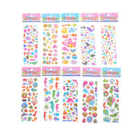 5 Sheets Cute Fishes Bubble Stickers Cartoon Scrapbooking Stick bkT bf