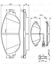 Bremsbelagsatz, Scheibenbremse für Bremsanlage Vorderachse BOSCH 0 986 494 704