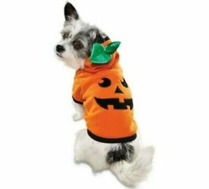 NEW Bootique Jack O Lantern PUMPKIN Dog Hoodie OUTFIT COSTUME HALLOWEEN CUTE
