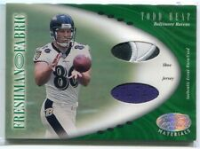2001 Leaf Certified Materials 129 Todd Heap Rookie Dual Jersey Shoe 392/400