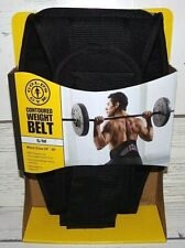 "NEW GOLDS GYM CONTOURED WEIGHT BELT S/M WAIST SIZES 24"" - 34"""