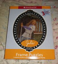 🌟New🌟 American Girl Julie Albright 3-50 Pc Puzzles & Frame 2007 Mattel