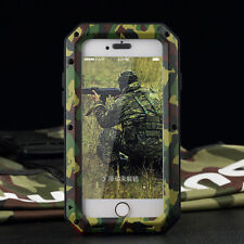 Heavy Duty Shockproof Bumper Aluminum Metal Cover Case Waterproof iPhone 5 6 7 Camouflage for iPhone 7s