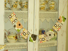 WOODEN BUNTING GARLAND MADE WITH ORLA KIELY NEW DESIGN RETRO DRESSER DISPLAY FAB