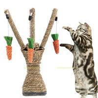 Cat Teaser Toys Kitten Scratching Post Climbing Stand Tree Pet Interactive Toy