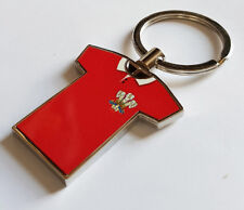Wales Retro Rugby Shirt - chrome keyring