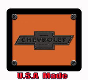 Chevy art inspired orange & black computer, laptop,iPad,  mouse pad