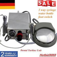 Dental Turbine Unit Einheit Handpiece Kompressor 4H 3 Wege Spritze Tragbares