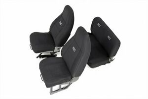 fits Rough Country Jeep Neoprene Seat Cover Set | Black [87-90 Wrangler YJ]