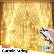 300 LEDs Icicle Curtain Lights Fairy String Christmas Home Garden Party Decor