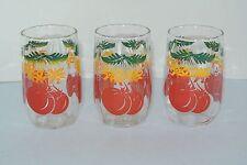 Vintage Tomato Juice Glass set of 3 ~ MINT CONDITION