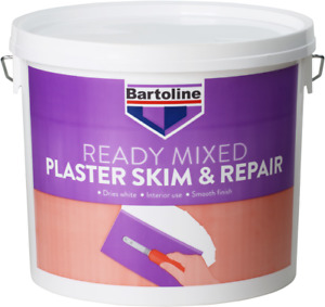 BARTOLINE PLASTER SKIM AND REPAIR READY MIXED FOR INTERIOR WALLS AND CEILINGS 5L