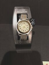 Lifestyle Timepieces Men's Gold Silver Glow Dial Wrist Watch Analog New