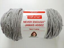 Big! Craft Smart Never Enough Yarn Light Grey 14.1oz 716 yds