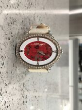 ed hardy showgirls watch white Leather Band Red Dial SG-Fl1499